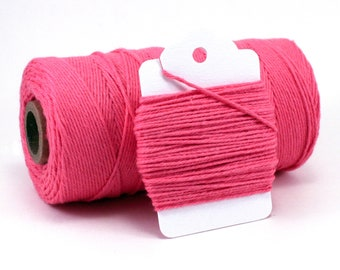 Dark Pink Baker's Twine - Deep Pink Divine Twine - Pink Cotton Twine - Pink Princess Favor String - Girl Baby Shower DIY Favor Twine - 4-Ply