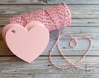 Heart Tags - Heart Shaped Paper Tags - Heart Gift Tags - Valentine Tags - Paper Hearts - Heart Shaped Labels - Heart Wedding Favor Tags