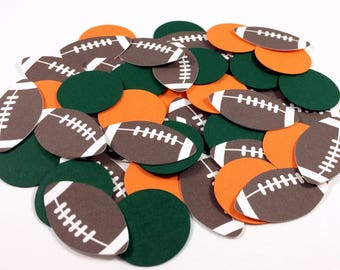 Football Confetti - Football Party Decorations - Football Table Confetti - Football Baby Shower Decor - Football Birthday Party Confetti