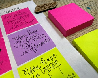 Printable Sticky note Post it notes template with scriptures & greetings happy mail christian card