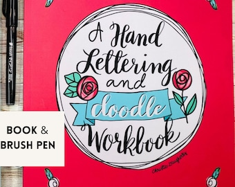 faith based Hand Lettering Workbook with brush pen free shipping Modern Calligraphy Brush Lettering Practice Doodle Workbook beginner