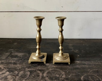 Brass Candlestick Holders B