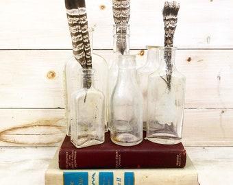 Set of 6 Glass Bottles