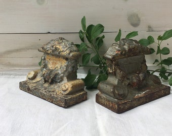Cast Metal Bookends