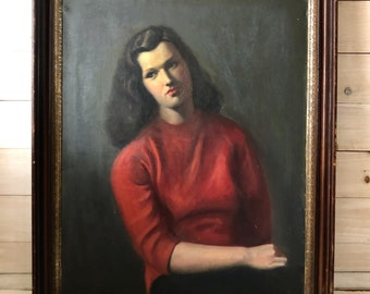 Lady in Red Portrait