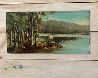Unframed Deer Painting