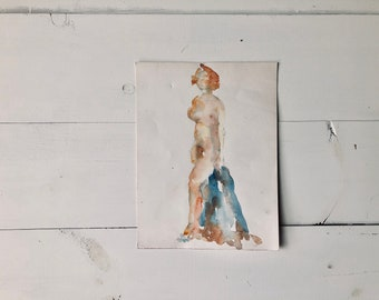 Nude Watercolor Portrait III