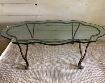 Brass Coffee Table - LOCAL PICKUP ONLY