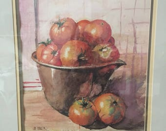 Tomato Watercolor Painting