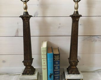Marble Base Lamps