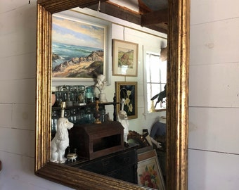 HOLD Gold Framed Mirror - LOCAL PICKUP