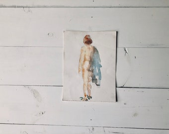 Nude Watercolor Portrait II