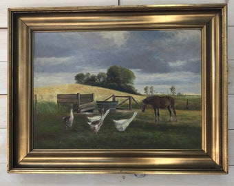 Farm Scene Painting