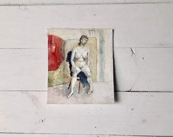 Nude Watercolor Portrait I