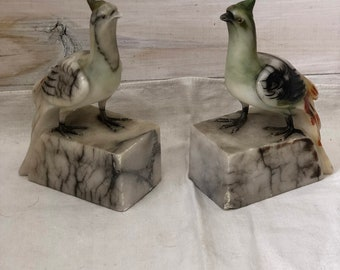 Stone Bird Bookends