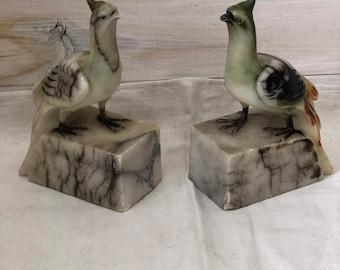 Stone Bird Bookends