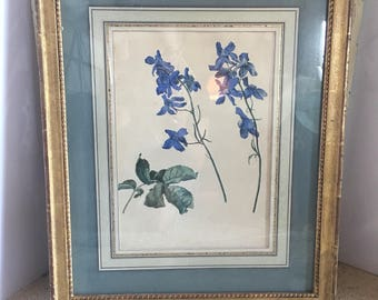 Blue Foral Watercolor