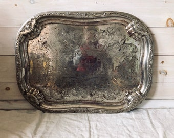Rustic Silver Tray