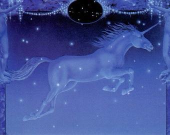 Linda Garland Monoceros Unicorn Greeting Card