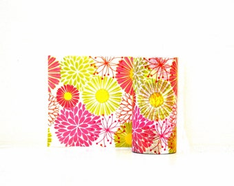 3 Inch Wide Washi Tape - Bright Flowers