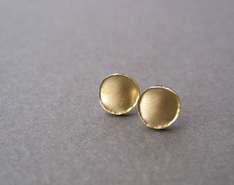 anticlastic ear studs 750 gold
