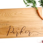 Personalized Cutting Board, Cheese Board Engraved with Names and Date for Engagement Gift, Anniversary and Wedding Present.