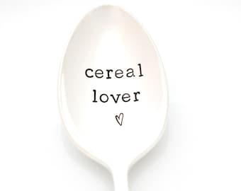 Cereal Lover Spoon. Stamped silverware by Milk & Honey.