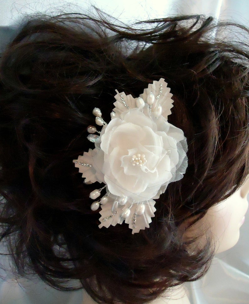 Wedding Hair Comb Pure Silk Bridal Comb 16391 Silk Floral Comb Pure Silk Rose