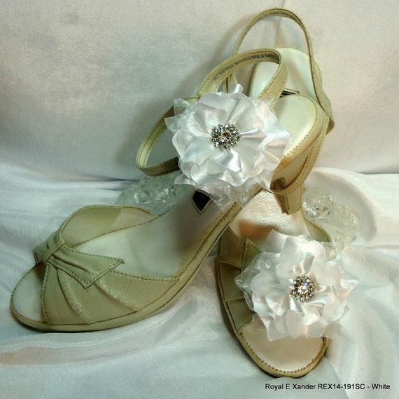 1bc2c0116 Bridal Shoes Clips Flower Shoe Clips Shoe Accessories