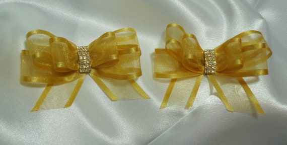 SC383 Shoe Clips Ribbon Shoe Clips Set of 2 Bow Shoe Clips Shoe Embellishments