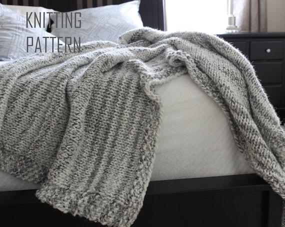 Pattern For Abigail Throw Blanket Knittingchunky Etsy