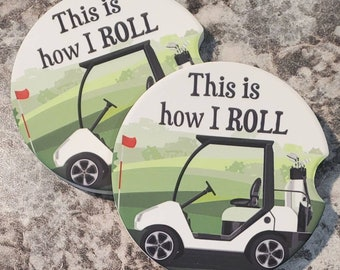 Golf Cart Car Coaster Gift Under 10