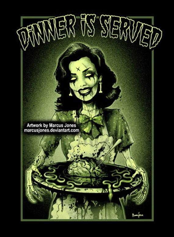 Tattooed Lady by Marcus Jones Screaming Demons Tattoo Art Print Vintage Poster