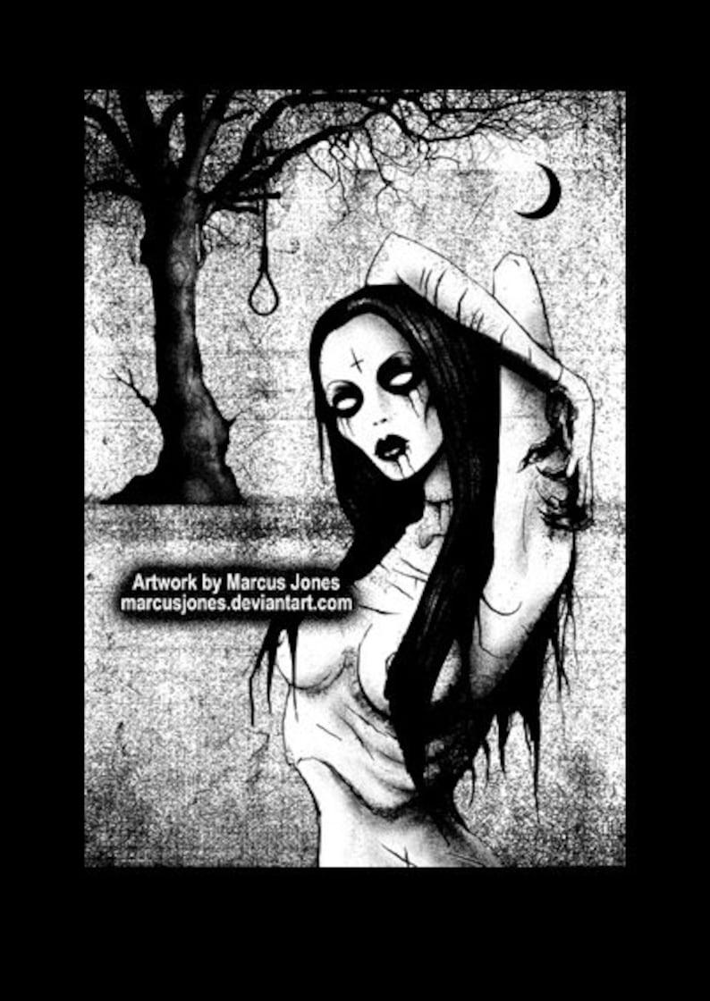 7b0d5294b9 Gothic Decor Gothic Art Dark Art Black and white art goth | Etsy