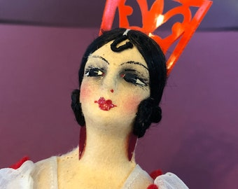 Beautiful Handmade 1940s Spanish Senorita Doll - Vintage España Dress with Peineta Comb