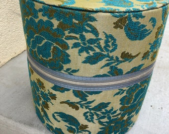 Vintage MCM 1960's Tapestry Wig Travel Case - Wig Suitcase