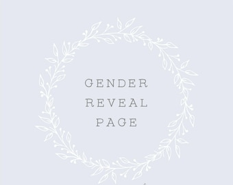 Gender Reveal Pages for your Baby Book