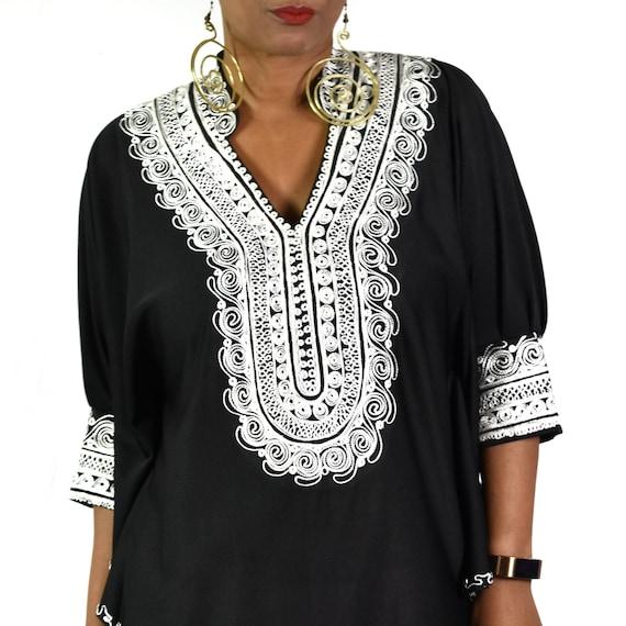 black caftan with ribbon trim 70s vintage boho maxi dress loungewear