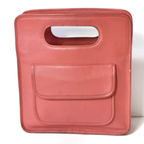 Coach Stroll Metro Tote Vintage Pink Leather Made