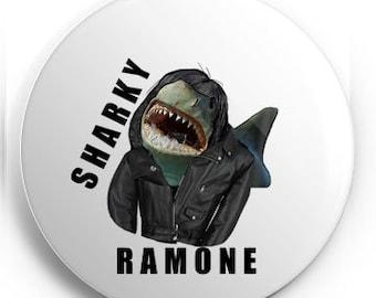Sharky Ramone Pin
