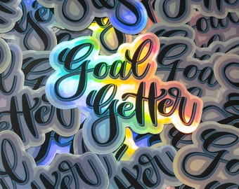 Goal Getter Holographic Sticker 3 inch