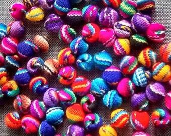 FREE SHIPPING manta beads - jewerly beads  - peruvian fabric -50  boho beads