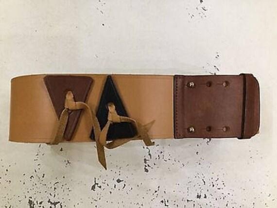 Anne Klein leather belt S / statement belt / wide