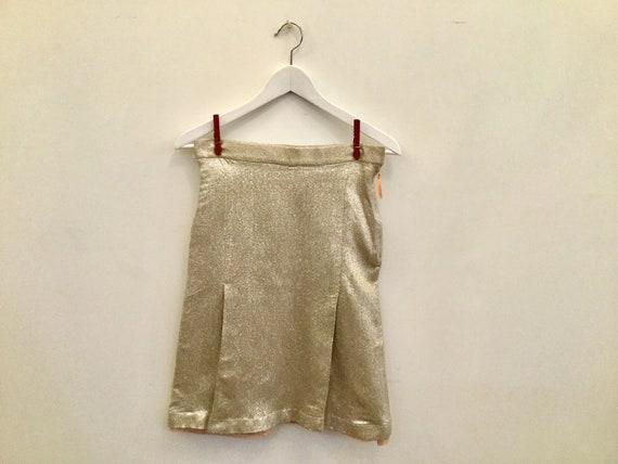 90s Paul Smith silver mini skirt XS/S / vintage go