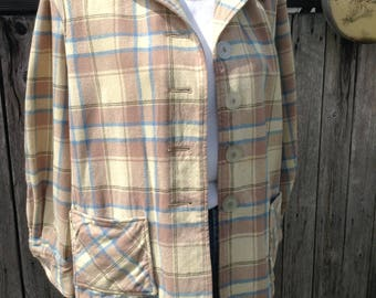 VTG 70s Patrick Duluth Top, Wool Jacket, Wool Blazer, Plaid Jacket
