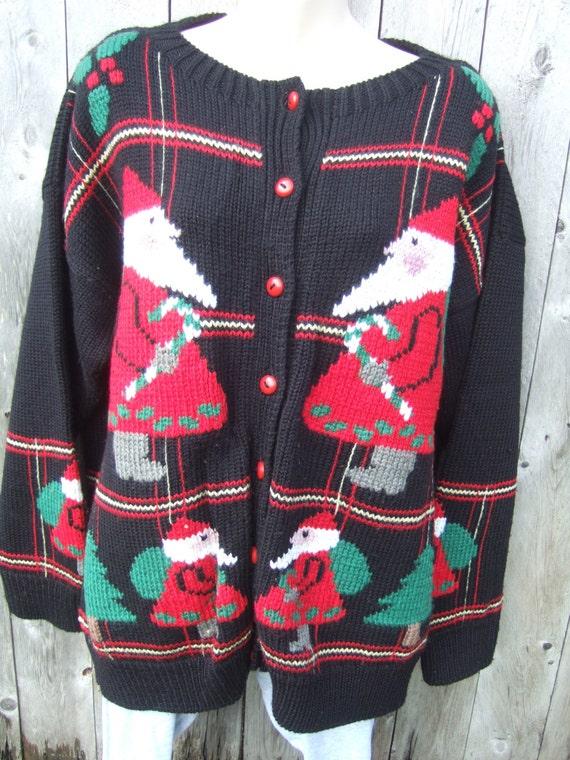 Cardigan Christmas Wool Sweater, Holiday Christmas
