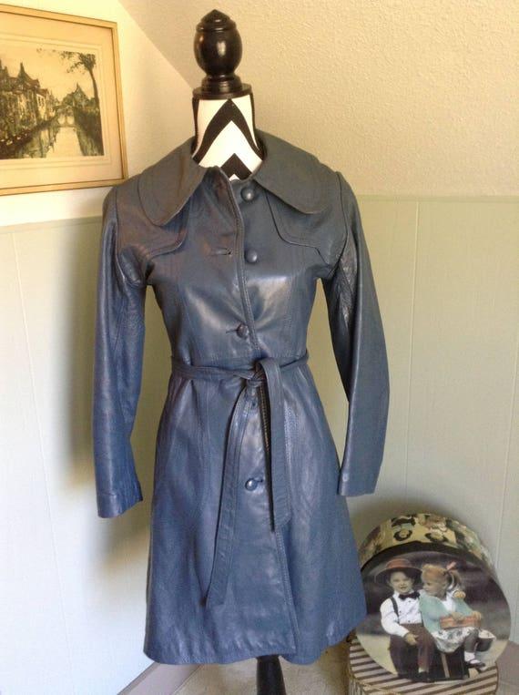 Vintage 70s Leather Coat, Retro Women's leather Co