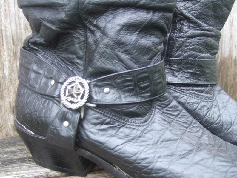 acf5167150cd9 Mens Zodiak Boots, VINTAGE 80s, Black, Size 13M