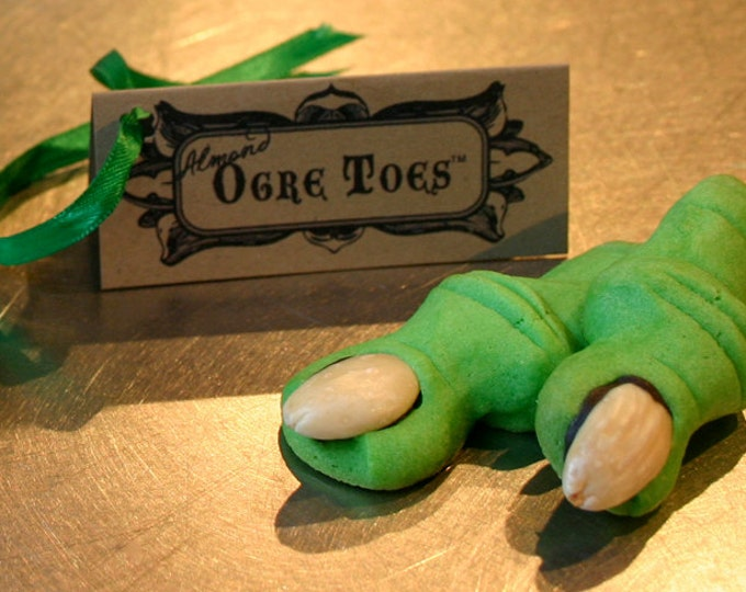 Ogre Toes Shrek Cookie Party Pack of 12 Individually Wrapped shortbread cookies, Almond or Maple