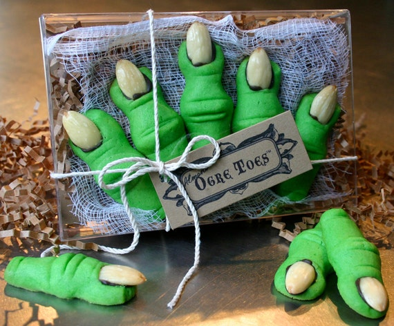 Kids Shrek Party Favors Ogre Toes Are Almond Shortbread Etsy